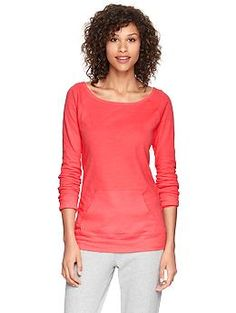 Snag this slub pullover from GapFit to pair with our coral FitBuds. #Fit4Life