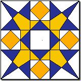 10th Star free paper foundation piecing star quilt block pattern