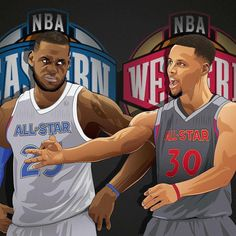 "6,165 次赞、 93 条评论 - Basketball Forever (@basketballforever) 在 Instagram 发布:""NBA All-Star Game 2017 about to tip off! Who you got? East or West? @cmineses_designs"""
