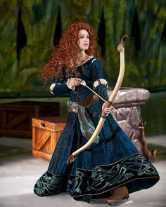Merida. This is how Disney imagined the live action version.  Looks like a Disney on Ice production.