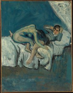 "Pablo Picasso - Erotic Scene (known as ""La Douleur""), 1902-03. Oil on canvas"