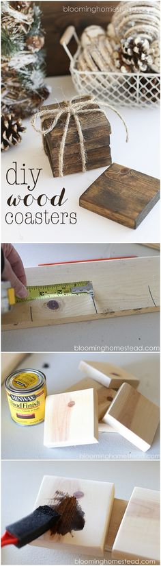 Check out this easy idea you can make and sell #DIY #wood coasters #crafts #project @istandarddesign