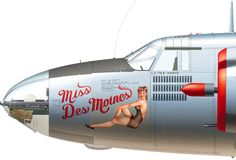 the works of Mark Styling, Styling creates historically accurate illustrations of actual military aircraft that were in operation during WWII and the Korean War (B-17, B-24, B-26, B-29, PBY Catalinas among many others) including matching serial number or bureau number, aircraft number, unit markings, crew names and nose art with classic pin-up girls.