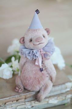 Teddy bear | Купить Мишка Тедди Пиони - кремовый, мишка, мишка тедди, мишка тедди купить, вискоза