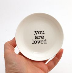 you are loved ring holder trinket dish gift for Grandmother