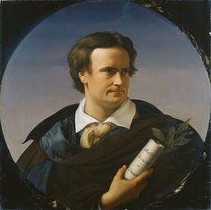 Karl Immermann (24 april 1796 – 25 augustus 1840) Portret door Friedrich Wilhelm von Schadow, 1828