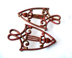 Antique Cast Iron Trivets Cast Iron by MargsMostlyVintage on Etsy, $22.00