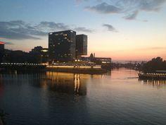 Duesseldorf Germany - Sunset on the Rhein