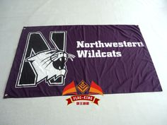 Northwestern University Flag NCAA Big Ten Conference 3ft x 5ft Polyester Banner Flying 150* 90cm Custom flag sport helmet