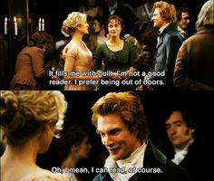 Ha ha. He's so awkward and adorable. :) #prideandprejudice #janeausten