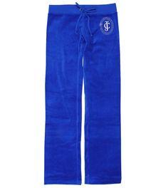 Juicy Couture Blue Velour Tracksuit Bottoms Juicy Couture, Tracksuit Bottoms, Lady, Leather Pants, Black Jeans, Mini Skirts, Sweatpants, Shorts, Lounge