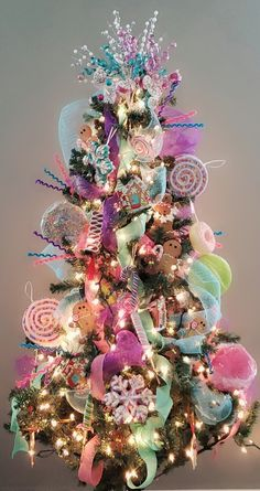 Candyland Christmas Tree Fun Christmas tree decorations f. Candyland Christmas Tree Fun Christmas tree decorations f. Christmas Tree Decorations For Kids, Gingerbread Christmas Decor, Candy Land Christmas, Elegant Christmas Trees, Whimsical Christmas, Colorful Christmas Tree, Noel Christmas, Holiday Decor, Christmas Tree Inspiration
