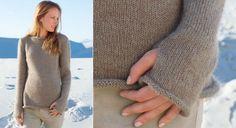 Modèle : tricoter un pull douceur aux bords roulottés