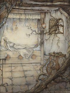 Anton Pieck, Cinderella. As designed for Dutch themepark 'Efteling'.