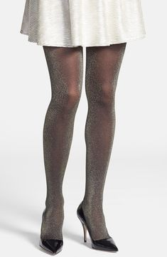 Hue Metallic Tights, perfect for party's! Metallic Tights, Sheer Tights, Funky Tights, Stockings Lingerie, Sexy Stockings, Glamour, Lingerie Retro, Ball Gowns Evening, Pantyhose Legs