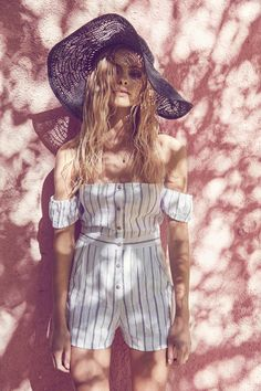 Anna Maria Olbrycht wears boho chic dresses, rompers and separates stars in Saylor summer 2016 lookbook Photoshoot
