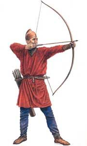 Example 11th century (Norman-Saxon) archer with selfbow