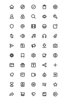 First chop icon pack, designed especially for creating unique feeling interfaces, websites, mockups, and illustrations. Icons are set into a grid with editable vectors paths. App Icon Design, Design Websites, Ui Ux Design, Interface Design, Website Icons, Easy Doodle Art, Iphone Wallpaper App, Mini Drawings, Simple Icon