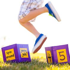 Get your kids' fitness plan on a roll with a set of homemade movement dice.