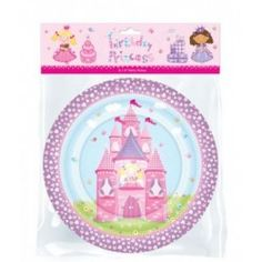 Add matching fairy princess party plates to your table settings