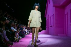 The clothes were an effective fusion of the designer's own downtown sensibility and the experience gained in a French atelier.