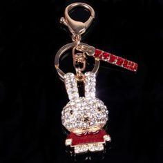 High Quality Rhinestone Animals Keychains Gold Plated Key Chain Crown Rabbit Dog   eBay Key Chain, Rabbit, Plating, Crown, Personalized Items, Dog, Rings, Animals, Ebay