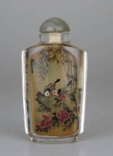 ANCIENNE TABATIERE CHINOISE CHINE CRISTAL DE ROCHE CHINESE CRYSTAL SNUFF BOTTLE