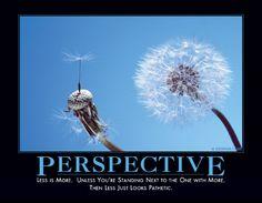 Perspective...hahahahahaha