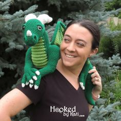 Vincent the Dragon amigurumi crochet pattern, premium printable Crochet Dragon Pattern, Crochet Toys Patterns, Stuffed Toys Patterns, Crochet Dolls, Bobble Stitch, Slip Stitch, Half Double Crochet, Single Crochet, Knitted Teddy Bear