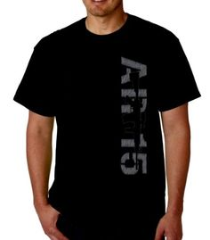AR-15 Men's Black T-shirt 2nd Amendment Gun Rights AR15 Design Men's Tee (X-Large) - http://guntshirts.us/ar-15-mens-black-t-shirt-2nd-amendment-gun-rights-ar15-design-mens-tee-x-large/