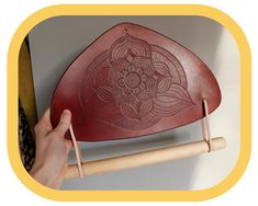 Paper Towel Holder – Kitchen Décor – Home Décor – Hand tooled Leather – Wood details – Handcrafted Paper Towel Holder Kitchen, Kitchen Fabric, Festival Accessories, Wood Detail, Leather Pieces, Leather Tooling, Hand Tools, Flower Decorations, Kitchen Decor