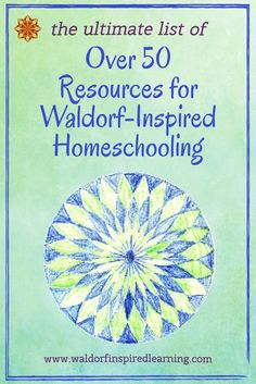 Are you looking for resources for your Waldorf homeschooling? This extensive list includes curriculum, supplies and favorite books. The ultimate list of over 50 Resources for Waldorf-Inspired Homeschooling. To help you weave the lively arts into your less Waldorf Curriculum, Waldorf Education, Childhood Education, Waldorf Math, Waldorf Preschool, Steiner Waldorf, Waldorf Kindergarten, Curriculum Planning, Homeschool Curriculum