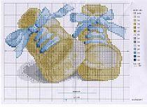 Haft na Stylowi.pl Baby Cross Stitch Patterns, Cross Stitch For Kids, Cross Stitch Baby, Cross Stitch Alphabet, Simple Cross Stitch, Cross Stitch Charts, Cross Stitch Designs, Baby Patterns, Cross Stitching