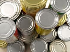 Collect Canned Food for a Food Bank