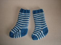 I loved making these cute 2-needle baby socks.         The original pattern was written out by hand by a friend, and given to me 25 years a...