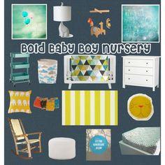 """Bold Boy Nursery Board"" by happyhomedesign via sweetmagnoliaway"