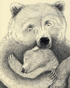 Bear Hug by DapperPrintStudio on Etsy