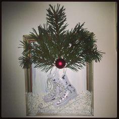 Dagens pyssel:) Jultavla med skridskor.