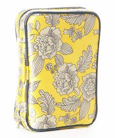 Yellow & Gray Texas Rose Jewelry Case by D.M. Merchandising #zulily #zulilyfinds
