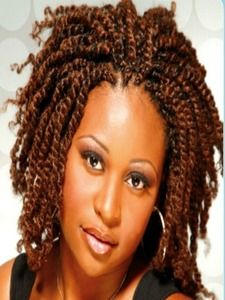 This is so fresh and perfect if you're going from a relaxer to all natural! Short Hair Twist Styles, Braid Styles, Curly Hair Styles, Natural Hair Styles, Pixie Styles, Cool Braids, Braids For Short Hair, Amazing Braids, Twist Braid Hairstyles