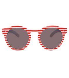 Illesteva Red Stripe Sunglasses - Shop more nautical styles for a sailor-chic summer look. http://www.harpersbazaar.com/fashion/fashion-articles/nautical-summer-apparel