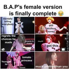 B.A.P funny female version