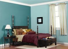 This is the project I created on Behr.com. I used these colors: PACIFIC SEA TEAL(510D-7),POLAR BEAR(1875),RIVERS EDGE(510C-3),