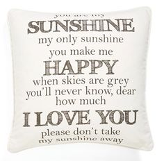 you are my sunshine  http://rstyle.me/n/f3taqpdpe