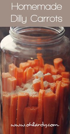 5 to 7 carrots, peeled and cut into sticks 1 tbsp whey 1 tbsp sea salt 1 tbsp fresh dill (or more if you like) 3 to 4 cloves of garlic, quar...