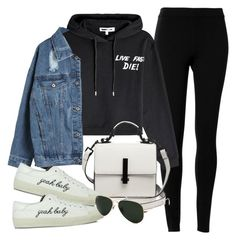 """Untitled #3022"" by camilae97 ❤ liked on Polyvore featuring Max Studio, McQ by Alexander McQueen, WithChic, Kendall + Kylie, Yves Saint Laurent and Ray-Ban"