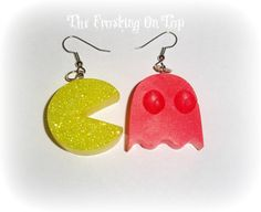 The ORIGINAL 80s Retro Pac Man Earrings by The by TheFrostingOnTop, $10.99