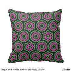 Unique multicolored abstract pattern throw pillows