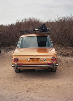 Off-Road Worthy... Taking the BMW 2002 to the beach. Surfing time...