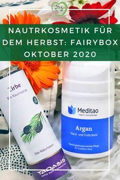 Naturkosmetik für den Herbst. Die Fairybox bietet im Oktober 2020 eine wundervolle Auswahl an veganer Kosmetik - Zertifiziert und Bio-Qualität!
